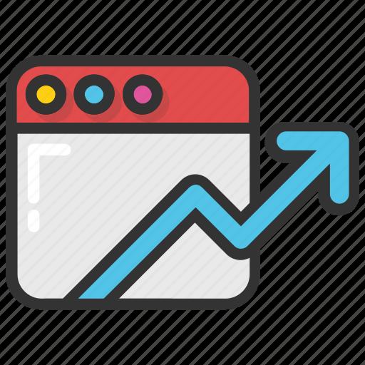 cyber statistics, site ranking, traffic statistics, web statistics, website analysis icon