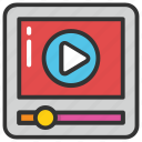 digital media, media player, online movie, online video, video streaming icon