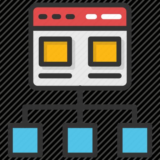 flowchart, information architecture, sitemap, web design icon