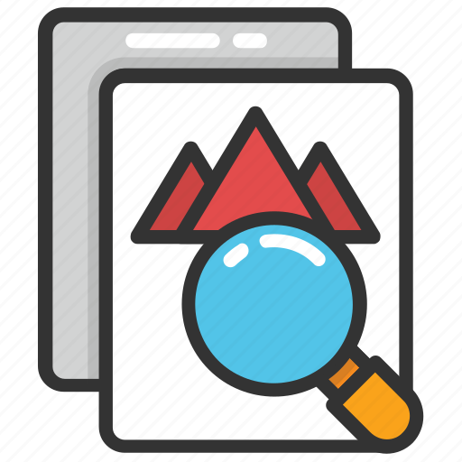 computer vision, image retrieval, image search, reverse image, visual search engine icon
