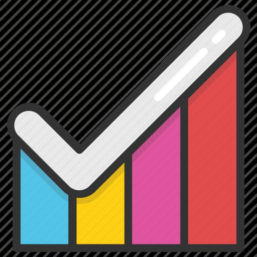 analytics, bar chart, bar diagram, bar graph, geographic information icon