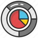 analysis, analytics, doughnut chart, pie chart, statistics icon