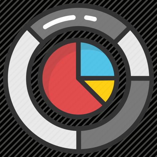 analysis, analytics, doughnut chart, pie chart, statistics icon