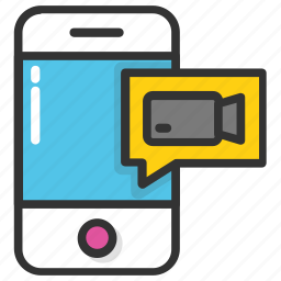 live chat, online communication, video call, video chat, video conference icon