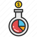 business experiment, finance laboratory, financial alchemy, money generating, money lab icon