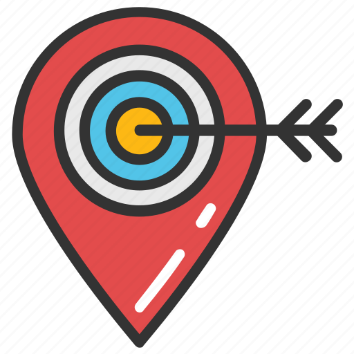 geo targeting, gps navigation element, location target, tourism, traveling concept icon