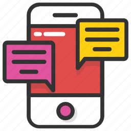 chat bubble, mobile chatting, mobile massage, sms, text message icon