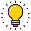 bulb, electric bulb, electric light, electricity, light icon