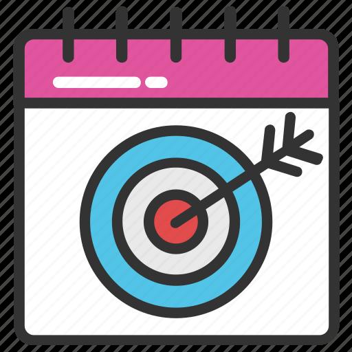 calendar target, deadline, target date, target schedule, timeframe icon