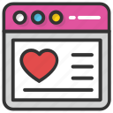 heart website, website design, website graphics, website layout, website template icon