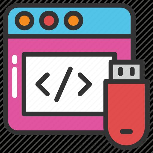 avr programming device, chip programmer, circuit serial programming, pocket programmer, usb programmer icon