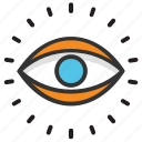 eye, eye view, human eye, monitoring, observation icon