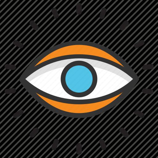 eye, eye view, human eye, monitoring, observation icon