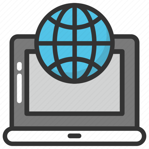 global network, global technology, internet concept, laptop world, worldwide connectivity icon
