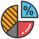 analysis, circle chart, pie chart, pie graph, statistics icon