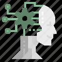 ai, brain, chip, robot, technology icon