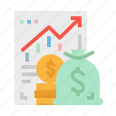 analysis, bag, coin, money, profit
