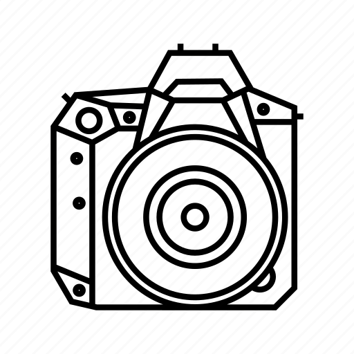 camera, digital, dslr, full frame icon