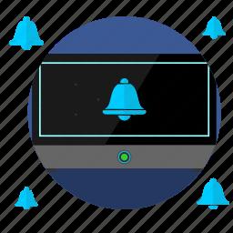 alarm, bell, clock, digital, ring, timer, watch icon