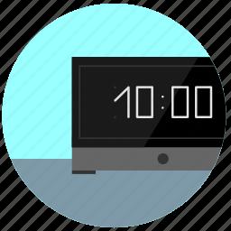 clock, digital, morning, ten, timer, watch icon