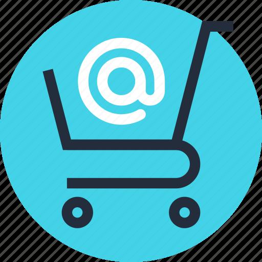 basket, buy, cart, commerce, ecommerce, email, shopping icon