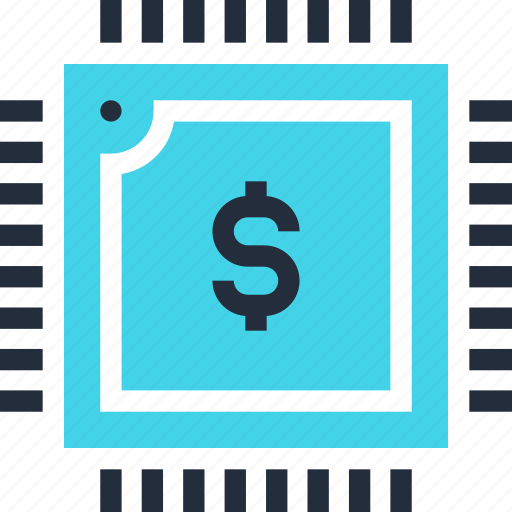 currency, digital, dollar, ecommerce, electronic, money, processor icon
