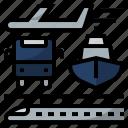 bus, infrastructure, plane, ship, hi speed train