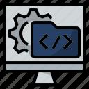 coding, computer software, programming, software development, web development icon