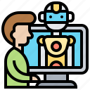 assistant, chatbot, innovation, online, robotic