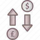 business, coins, currency, currency value icon