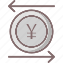 business, currency, financial, yen value icon