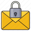 message, email, protection, secure, private icon