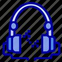 audio, handfree, headphone, music icon