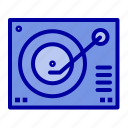 deck, device, phonograph, player, record icon