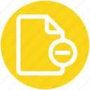 digital marketing, document, file, minus, page, paper