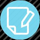 digital marketing, document, file, page, paper, pencil