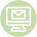 communication, email, envelope, lcd, letter, mail, message