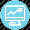 chart, graph, lcd, monitor, statistics, stats
