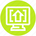 arrow, digital marketing, display, lcd, screen