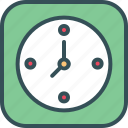 clock, date, time, timer, wall clock icon