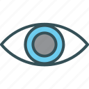 eye, overview, show, view, visibility icon