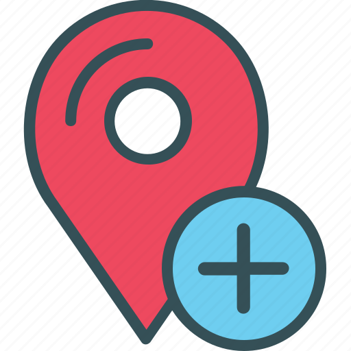 Gps, location, marker, navigation, plus icon - Download on Iconfinder