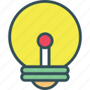 bulb, creative, idea, light, light blub icon