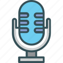 audio, mic, microphone, record, voice icon