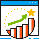 achievement, arrow, goal, graph, strategy, success icon