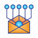 broadcast, business, digital, digital marketing, email, marketing, message icon