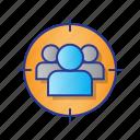 bussines, digital, digital marketing, market, marketing, target icon