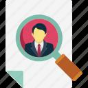 find person, find user, magnifier, search person, user search icon