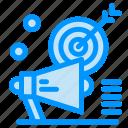 audiance, campaign, marketing, megaphone, target