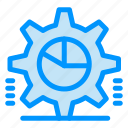 cog, gear, graph, pie, settings, statistics